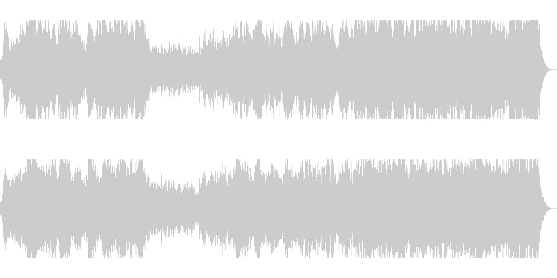 吹奏楽器が雄大さを表現するオーケストラの未再生の波形