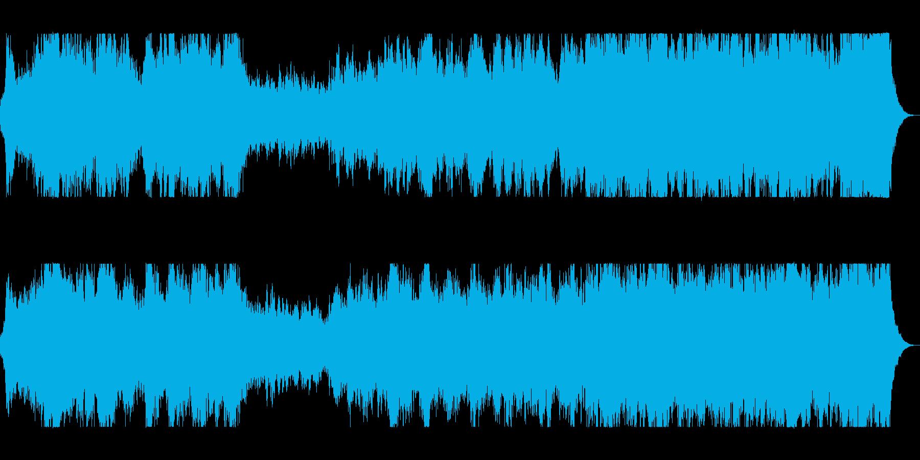 吹奏楽器が雄大さを表現するオーケストラの再生済みの波形