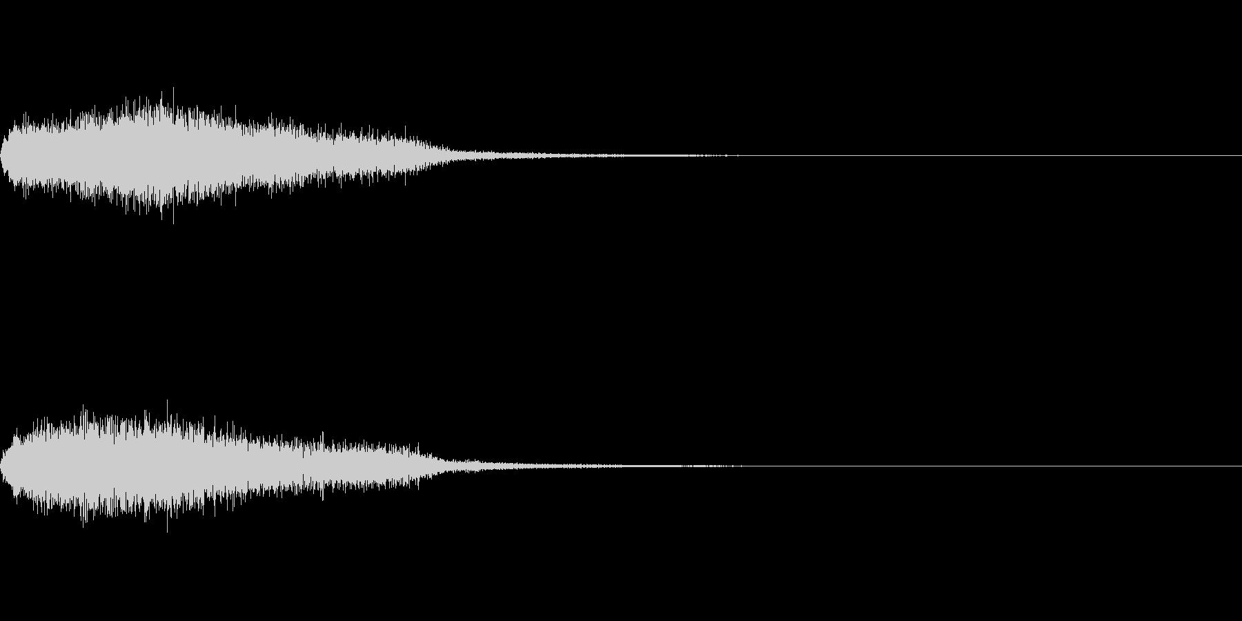 効果音 ホラー その6の未再生の波形