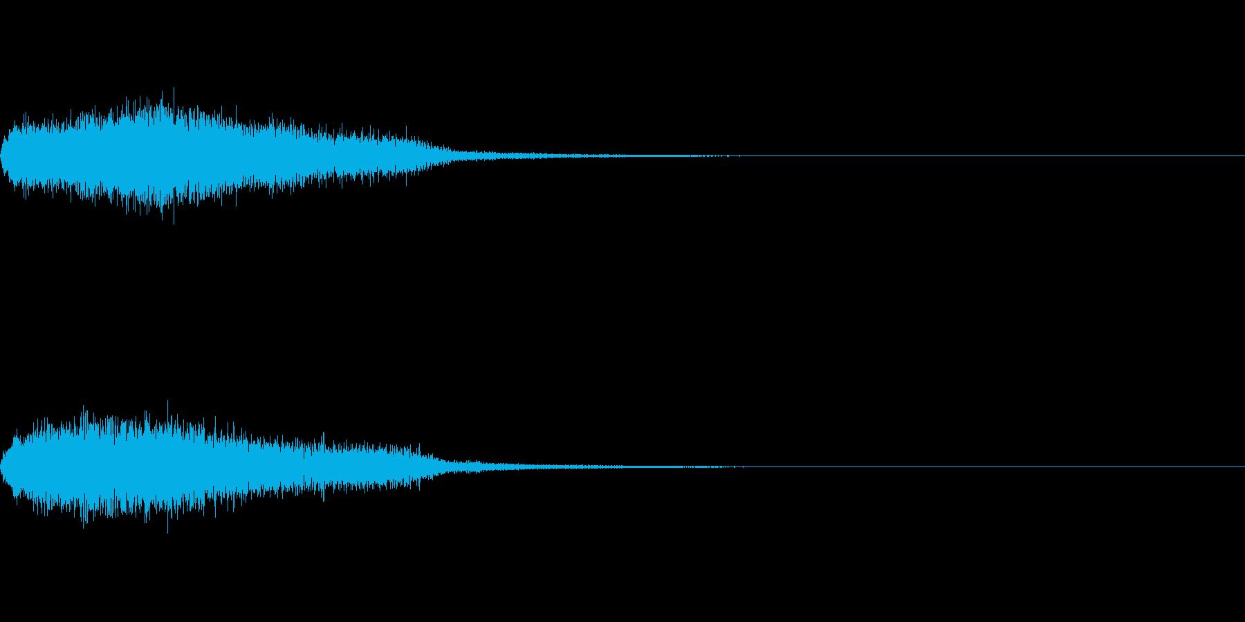 効果音 ホラー その6の再生済みの波形