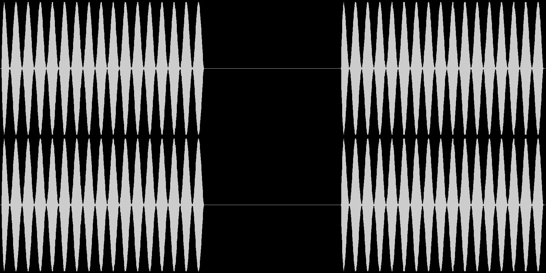 電話 呼び出し音 プルルルル×2 の未再生の波形