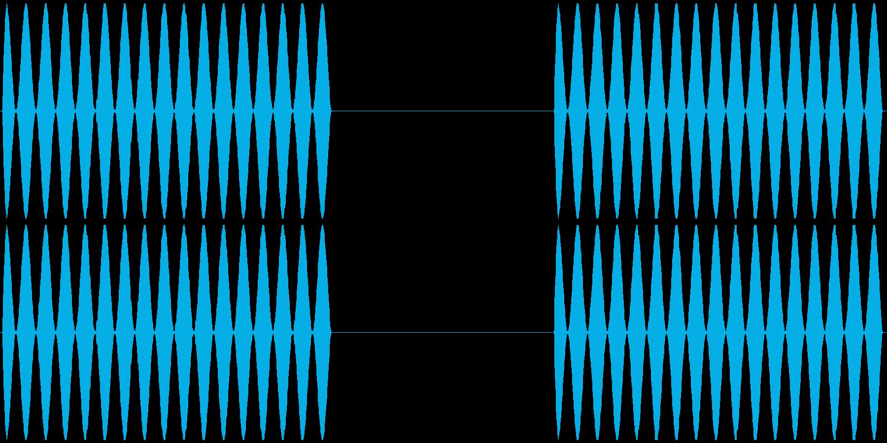 電話 呼び出し音 プルルルル×2 の再生済みの波形