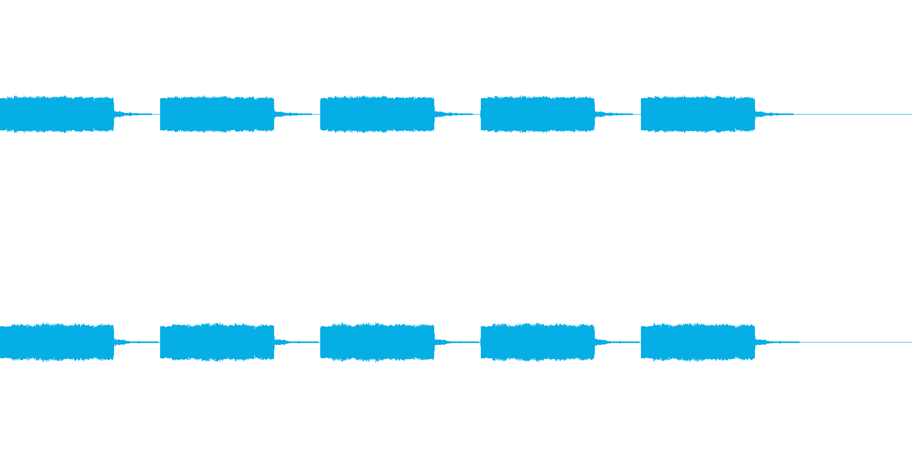 定番着信音、アラーム音の再生済みの波形