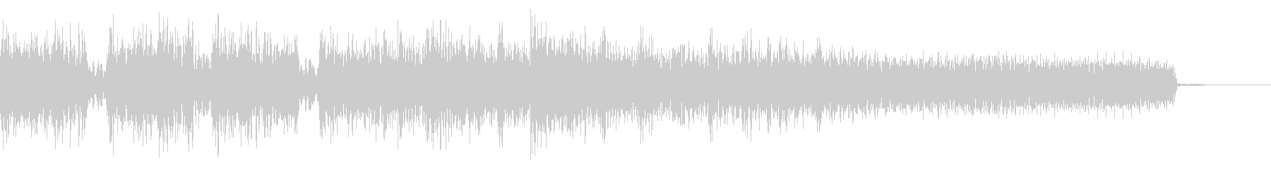 攻撃的なメタルなジングル 場面転換の未再生の波形