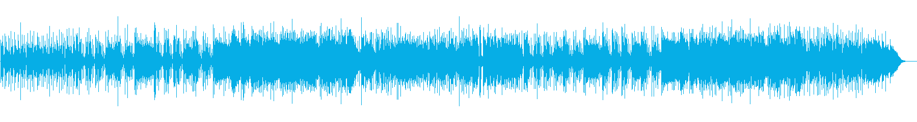 軽快なフュージョンの再生済みの波形