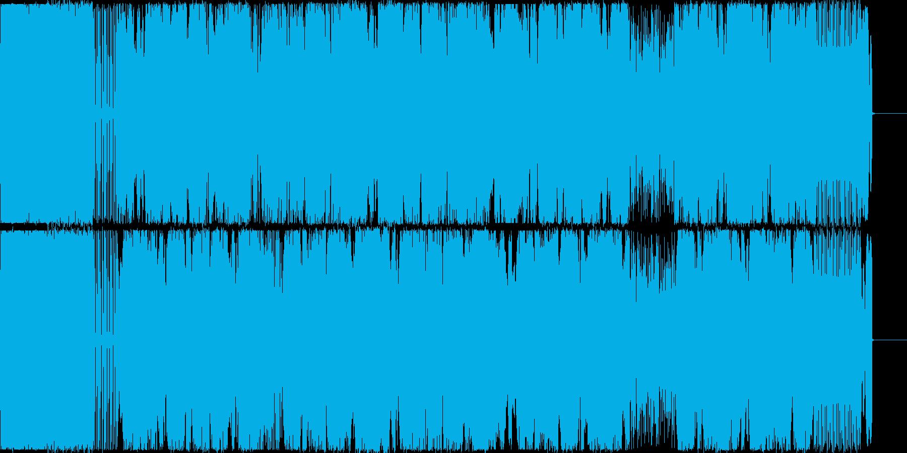 ダーク、森の中をさまよっているイメージの再生済みの波形