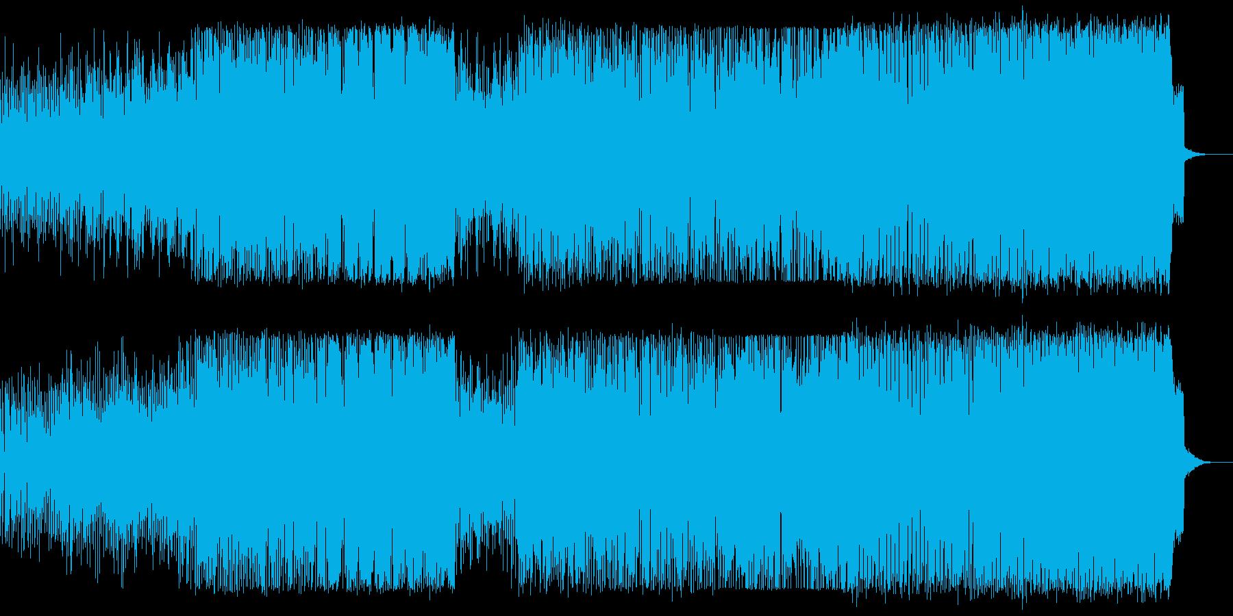 ミステリアスなループ的EDMの再生済みの波形