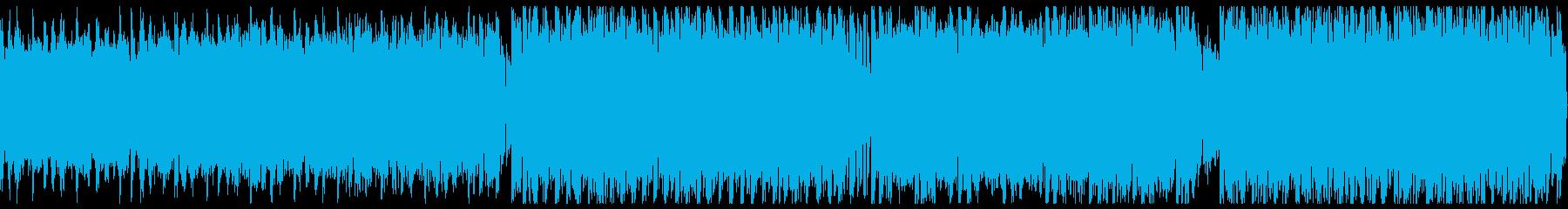 ハードな歪みのシンセでメタル風の再生済みの波形