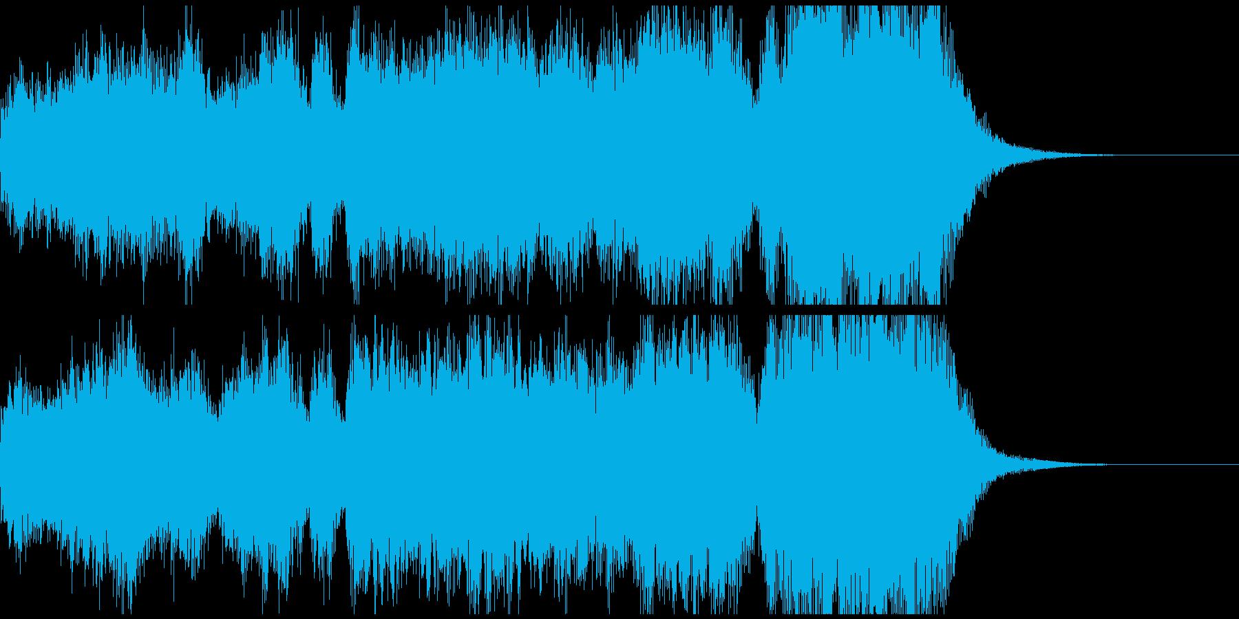 明るく華やかなフルオーケストラジングルの再生済みの波形