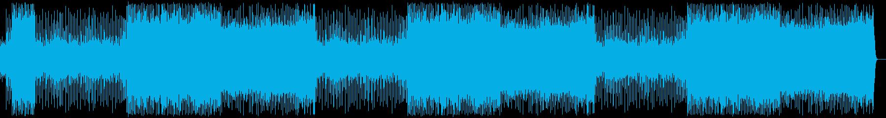 アップテンポの曲の再生済みの波形