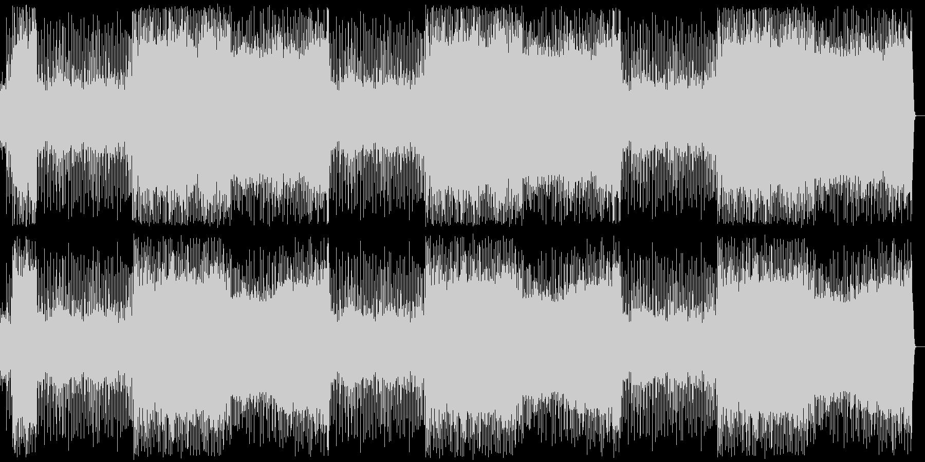 アップテンポの曲の未再生の波形