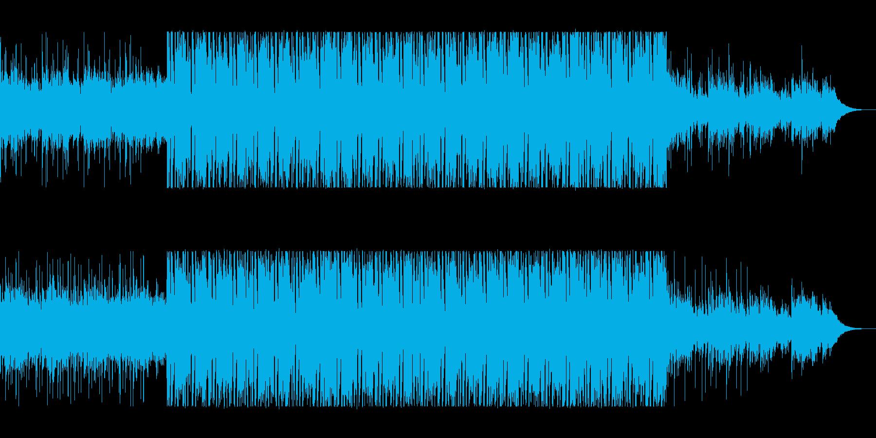 まるで宇宙のような壮大さを感じる曲の再生済みの波形