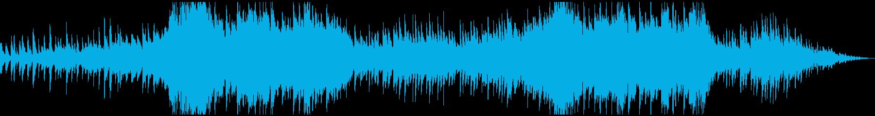 ピアノとガットギターのデュオの再生済みの波形