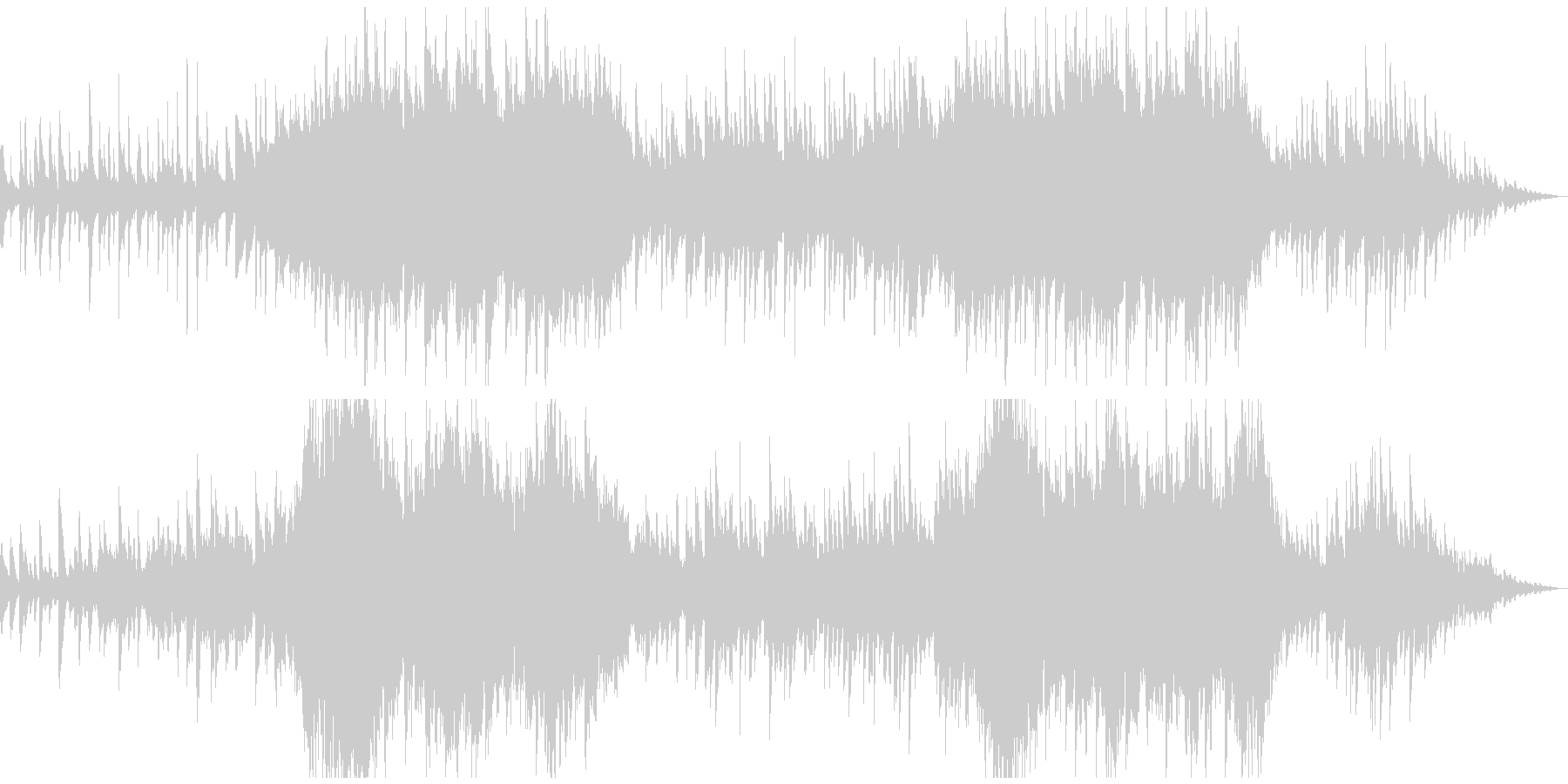 ピアノとガットギターのデュオの未再生の波形