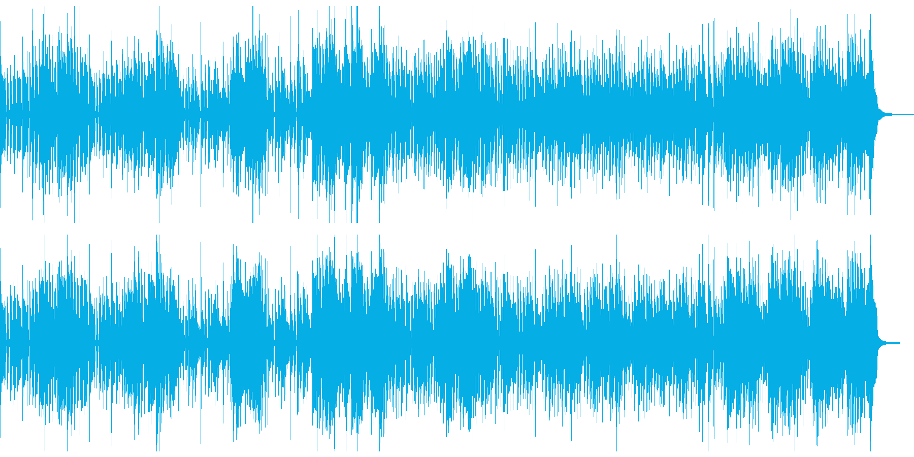 サックスとオルガンのニュー・ジャズの再生済みの波形