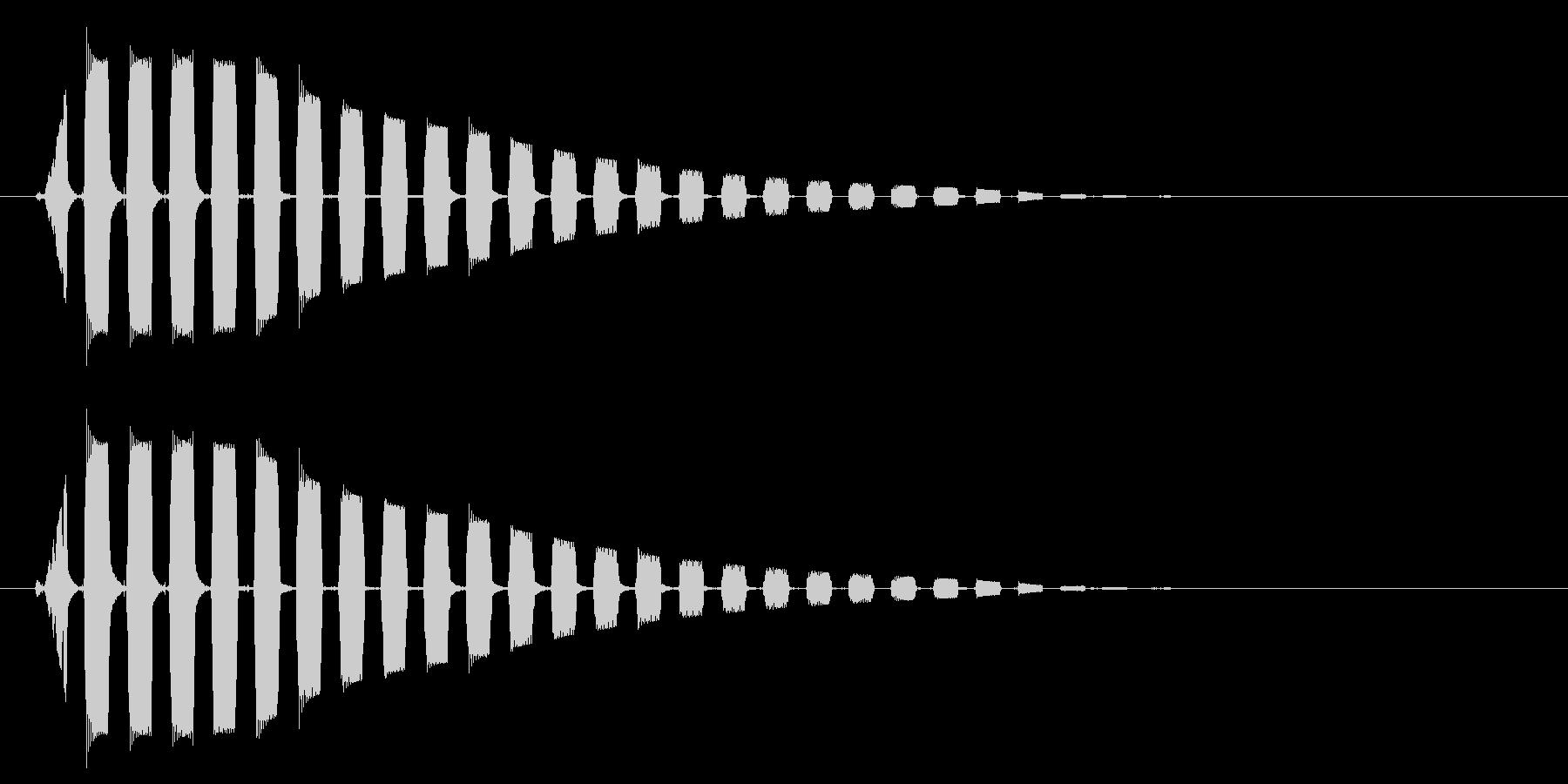 ビョーン↑(音が高めの跳ねる音)の未再生の波形