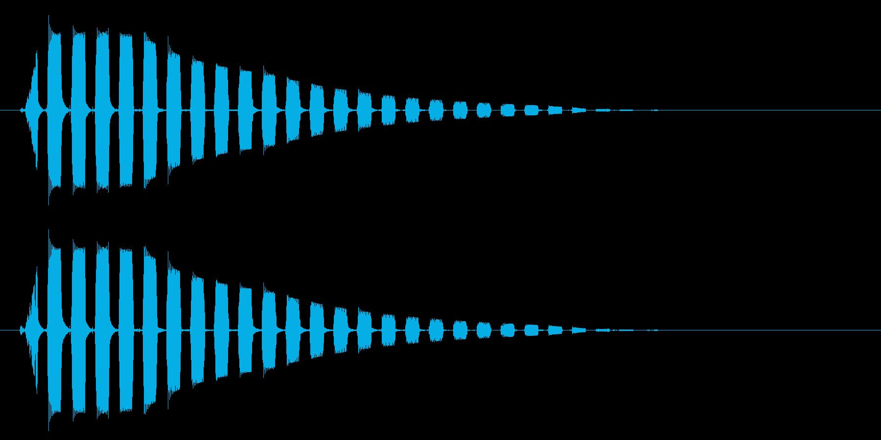 ビョーン↑(音が高めの跳ねる音)の再生済みの波形