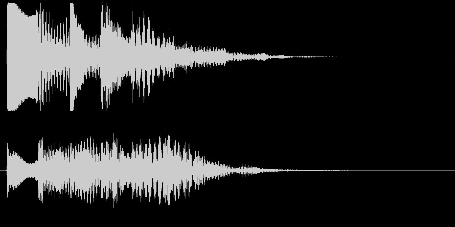 ワンフレーズ 1フレーズ効果音 ピポパポの未再生の波形