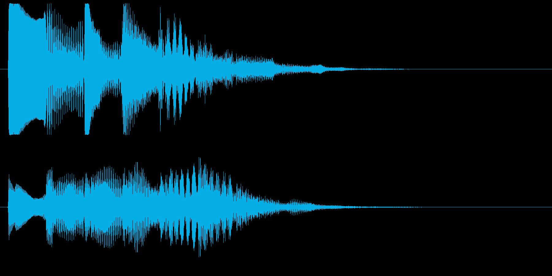 ワンフレーズ 1フレーズ効果音 ピポパポの再生済みの波形