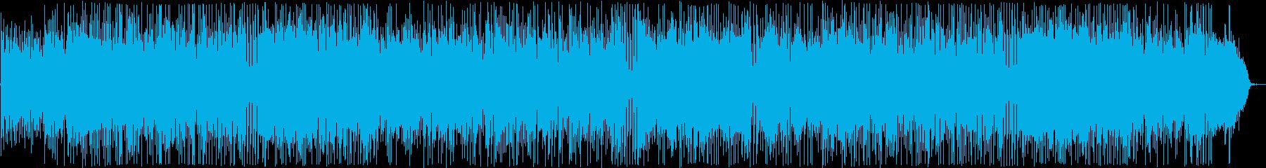 陽気なシンセ・ギターサウンドの再生済みの波形