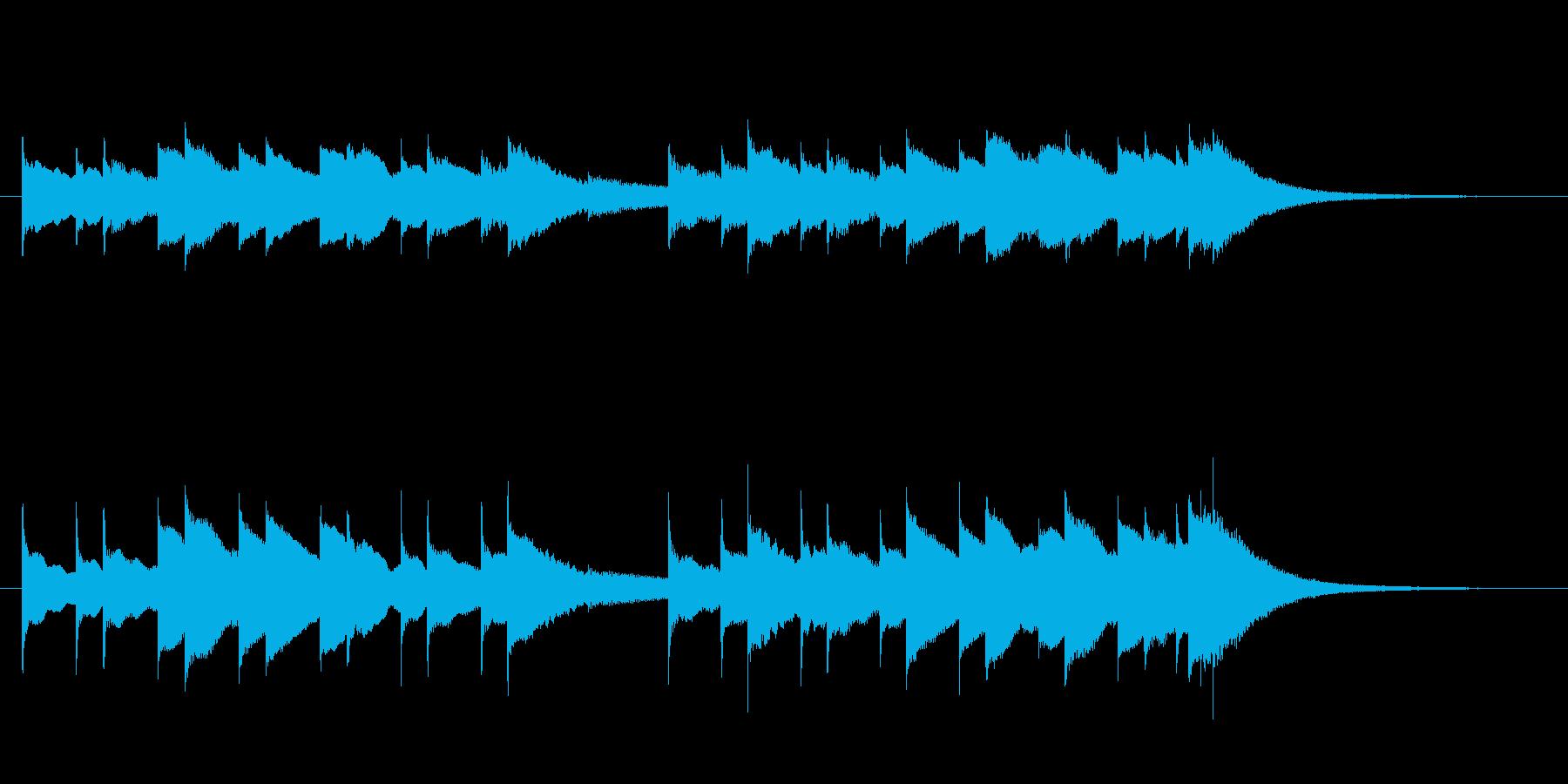 鉄道唱歌のオルゴールの再生済みの波形
