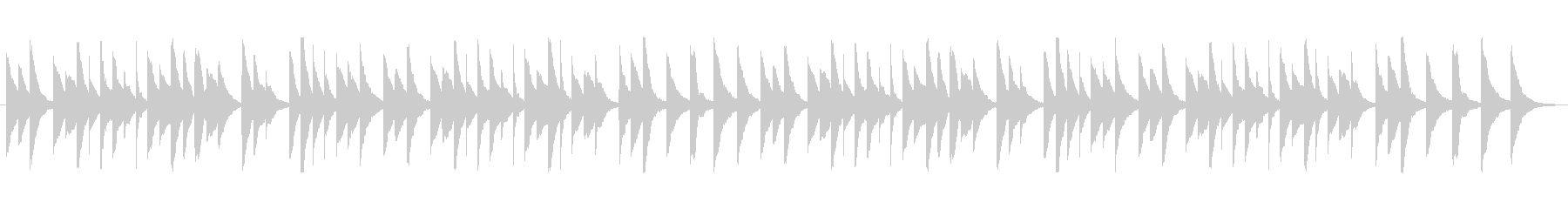 シンプルで優しいオルゴール曲の未再生の波形