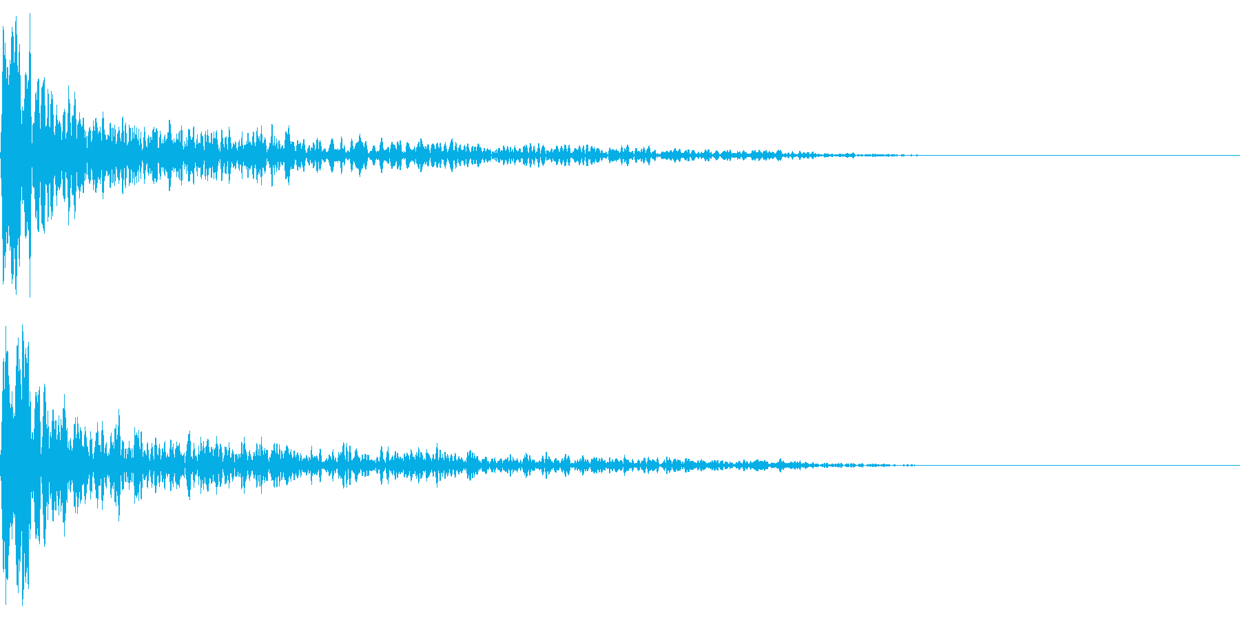 トーナルボタン2・始まりのロゴ・ビーンの再生済みの波形