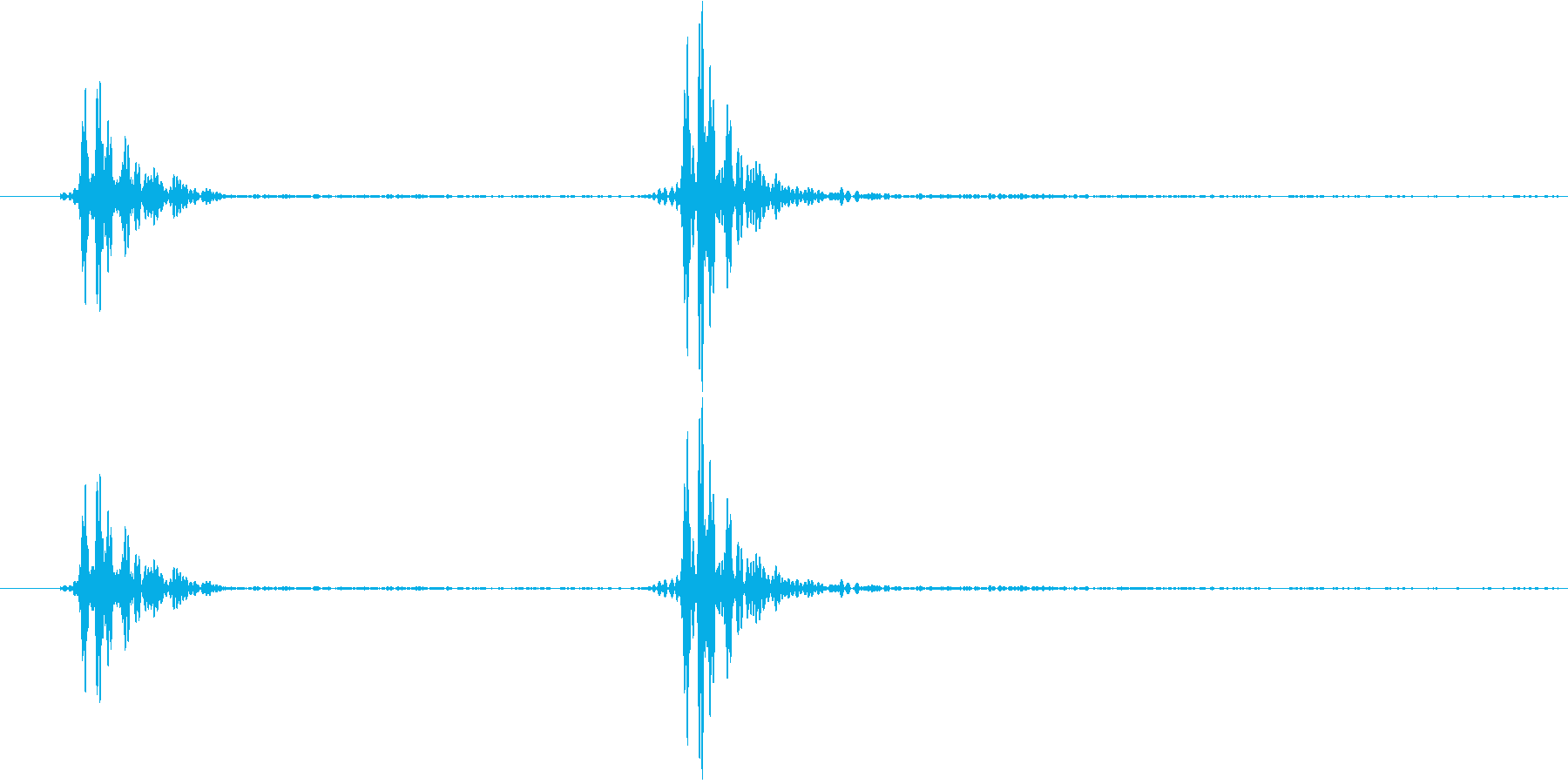 ノック1(軽い・乾いた音) コンコンの再生済みの波形