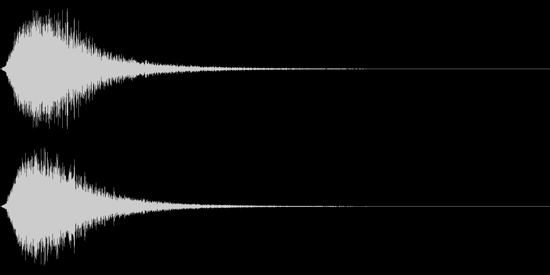 キラン☆キラーン/派手なインパクト3CVの未再生の波形