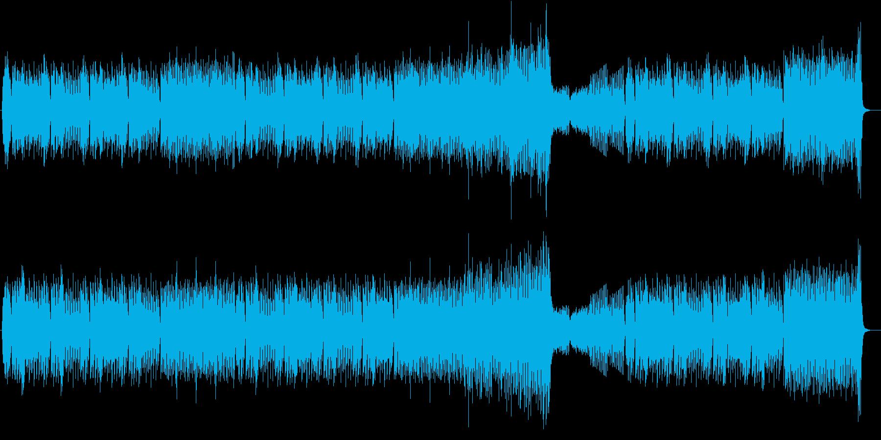 不安感・焦燥感を煽る現代タンゴ風インストの再生済みの波形