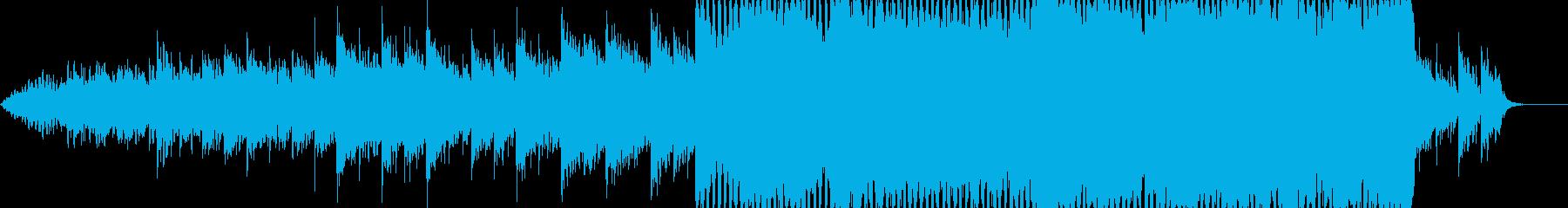 後半に一気に盛り上がるCMなどに最適な曲の再生済みの波形
