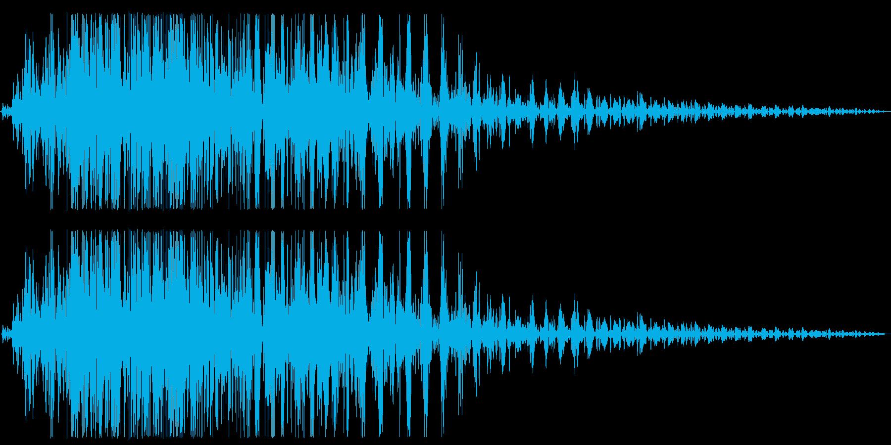 ガオー(猛獣、ライオンのうなり声控えめ)の再生済みの波形