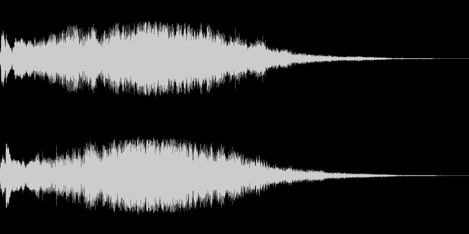 クリアサウンドロゴの未再生の波形