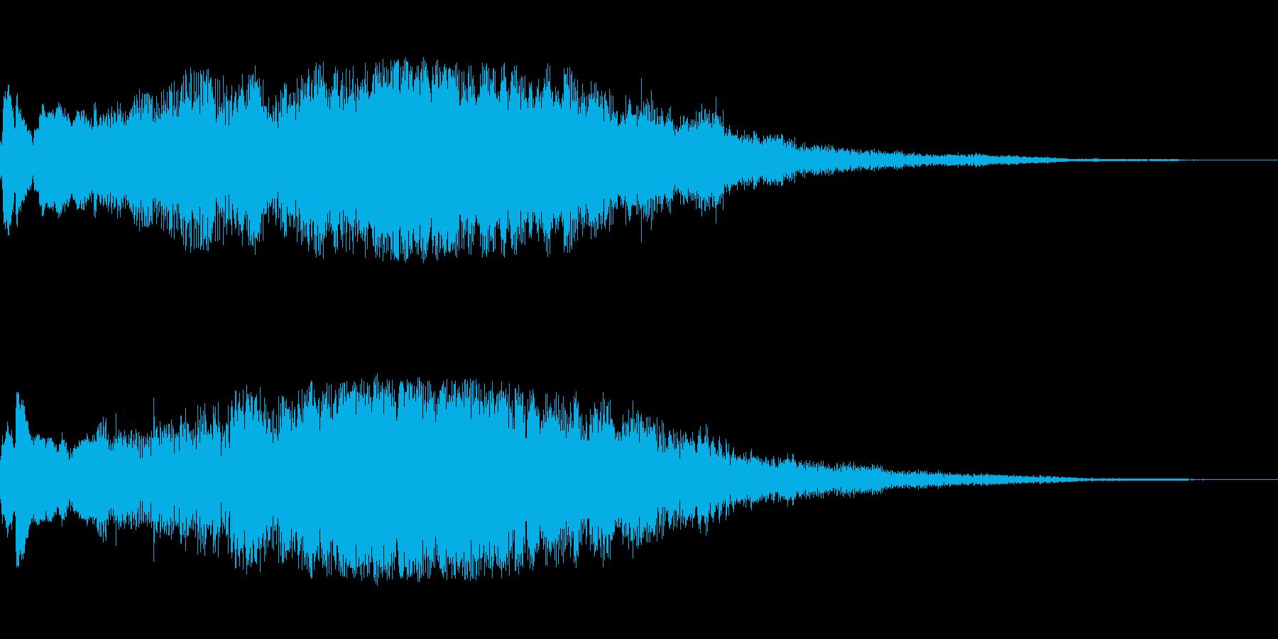 クリアサウンドロゴの再生済みの波形