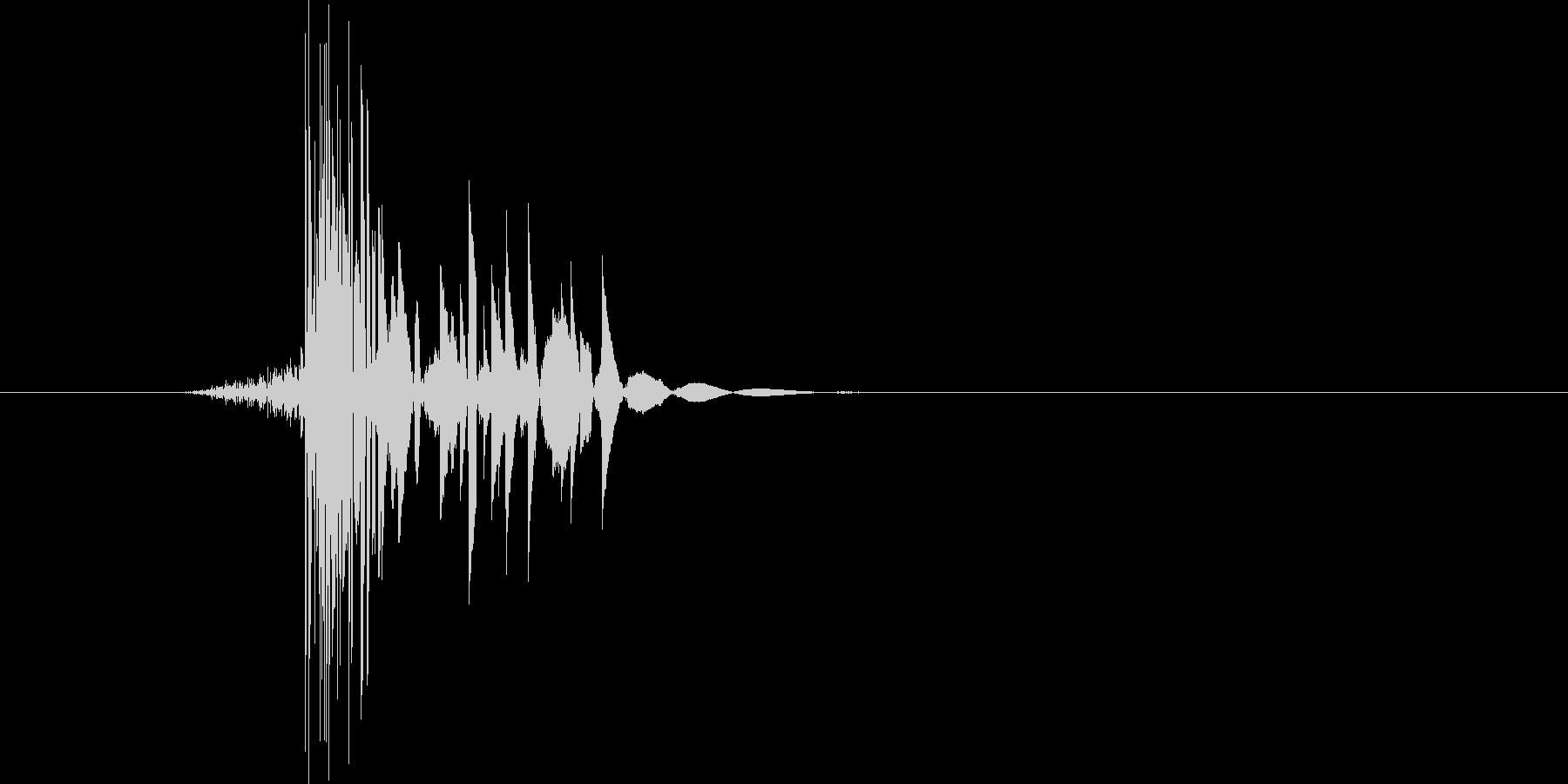 ゲーム(ファミコン風)ヒット音_048の未再生の波形