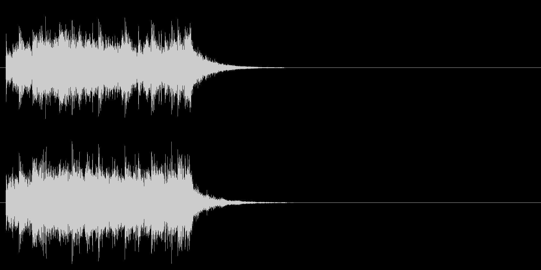 キューアタック風ロックのジングルの未再生の波形