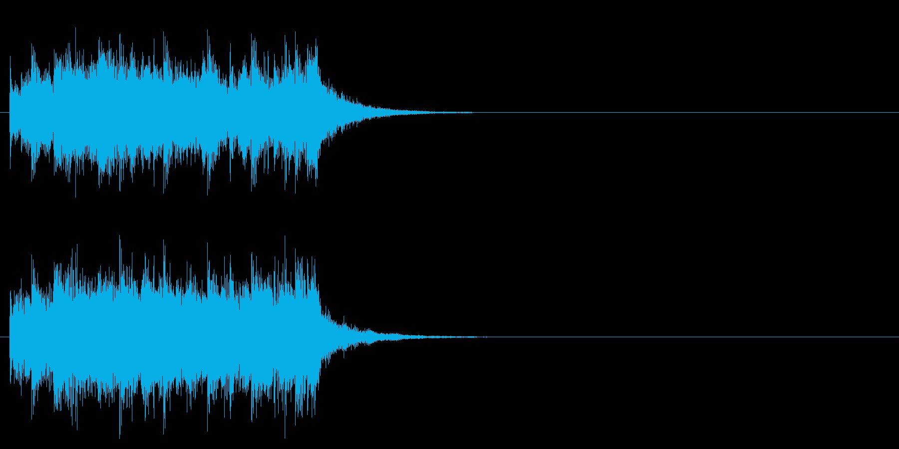 キューアタック風ロックのジングルの再生済みの波形