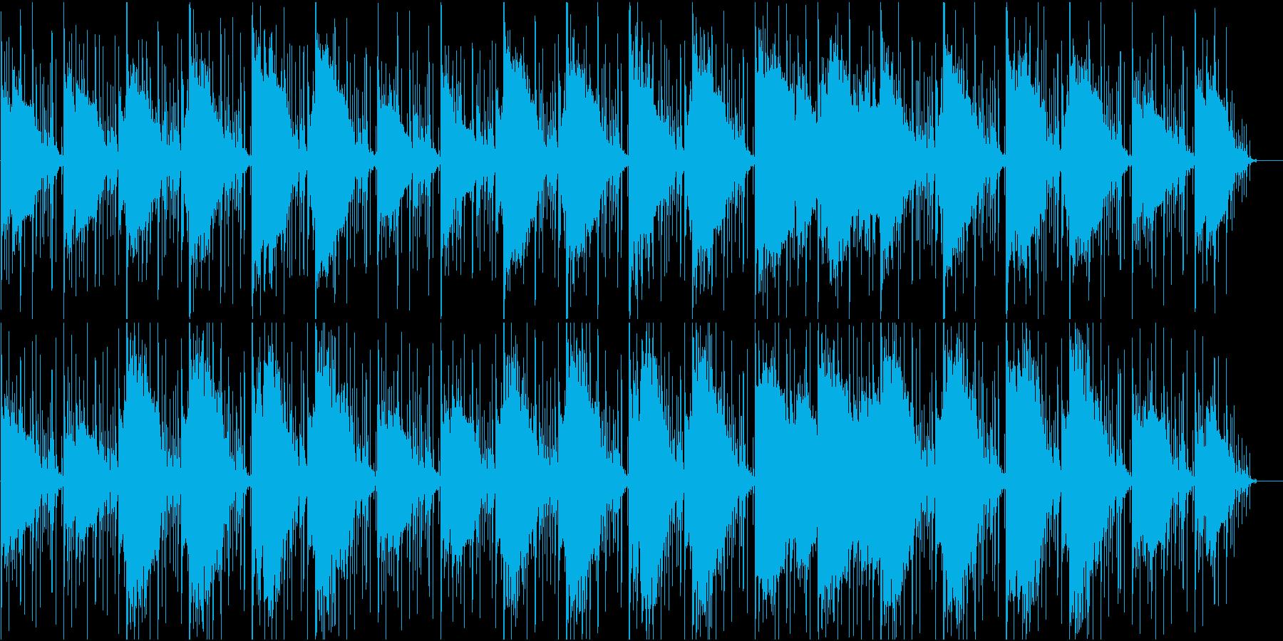 無気力、気だるさをイメージした曲の再生済みの波形