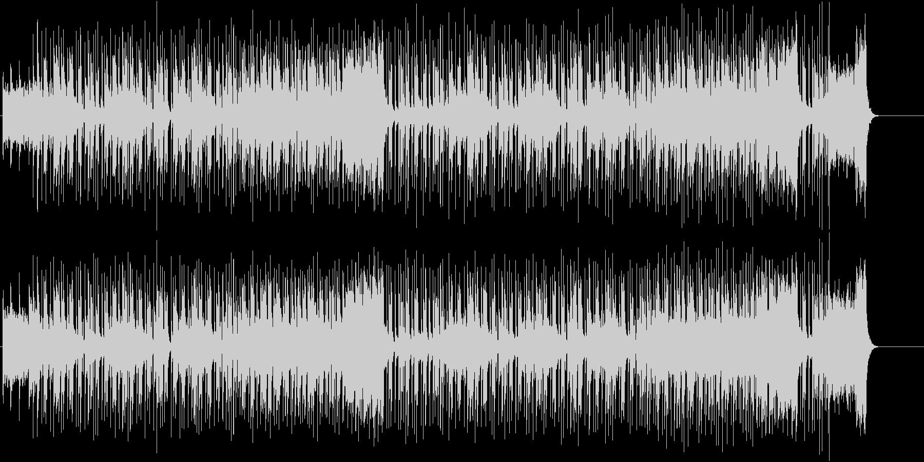 軽快なリズムとブラスのファンキーな曲の未再生の波形