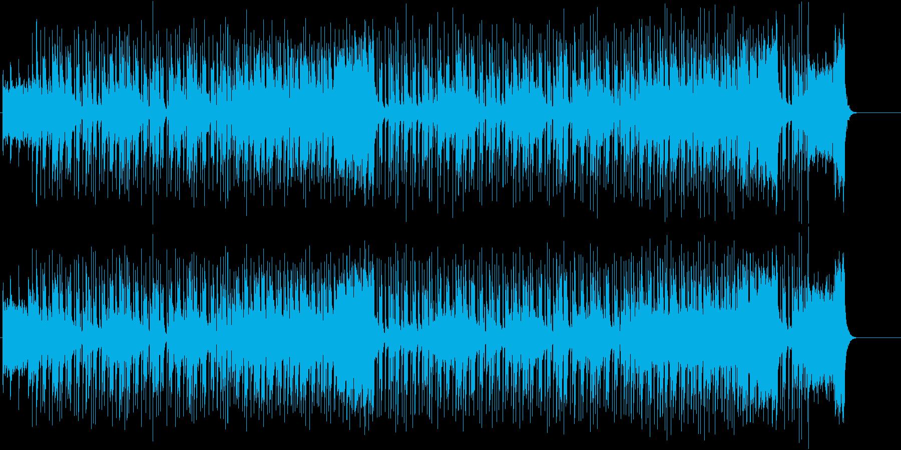 軽快なリズムとブラスのファンキーな曲の再生済みの波形