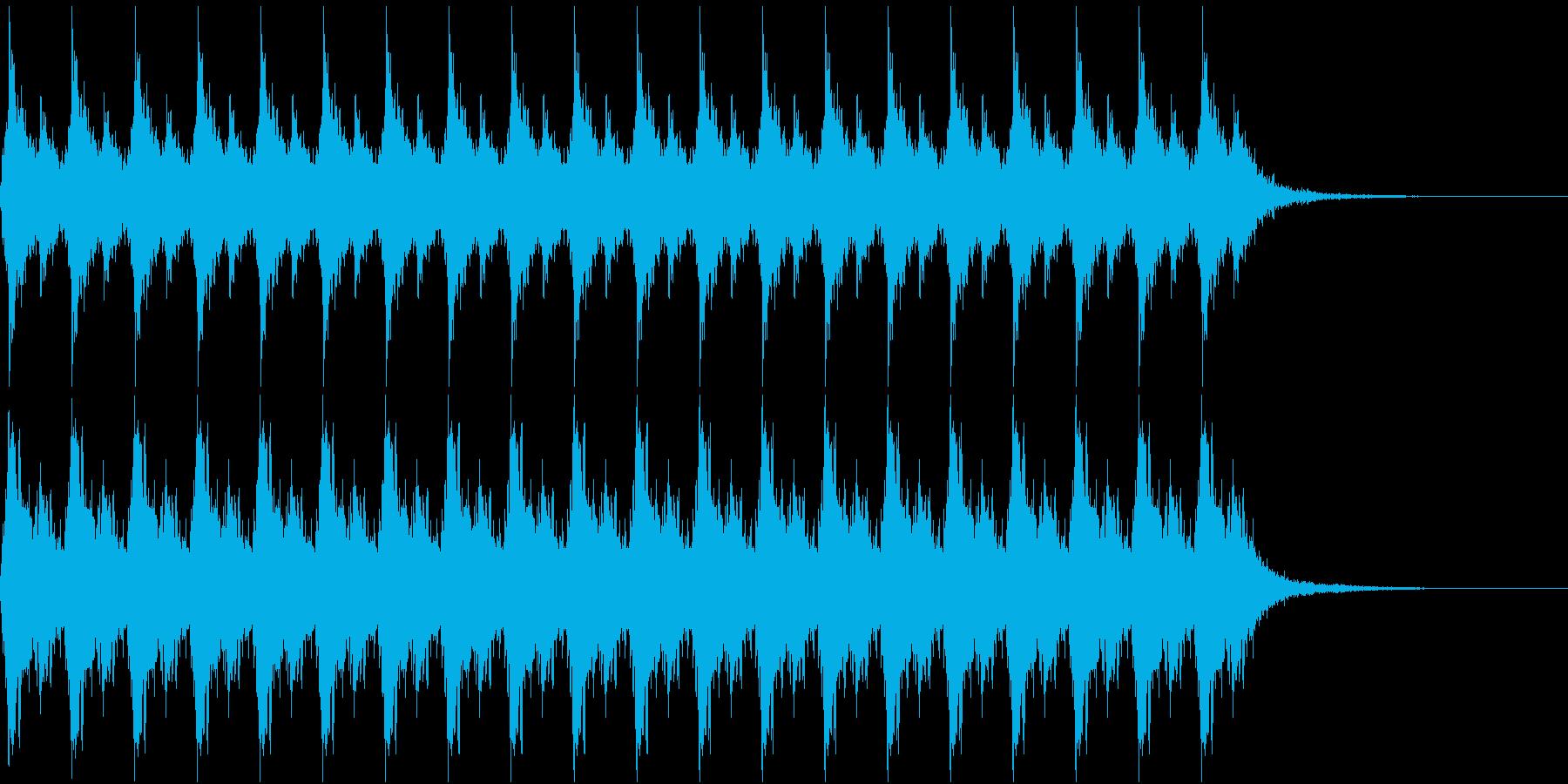 クリスマス サンタの鈴 10秒間の再生済みの波形