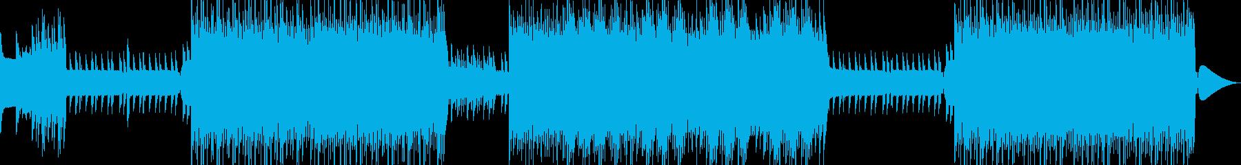 昔懐かしいレトロゲームな音源を交えた曲…の再生済みの波形