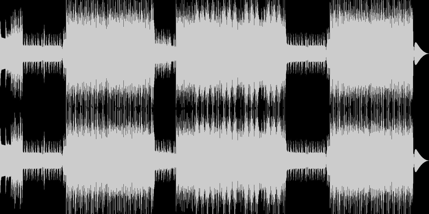 昔懐かしいレトロゲームな音源を交えた曲…の未再生の波形