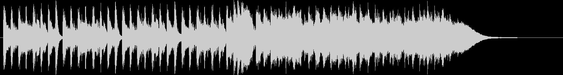 30秒CM用BGM(小編成オーケストラ)の未再生の波形