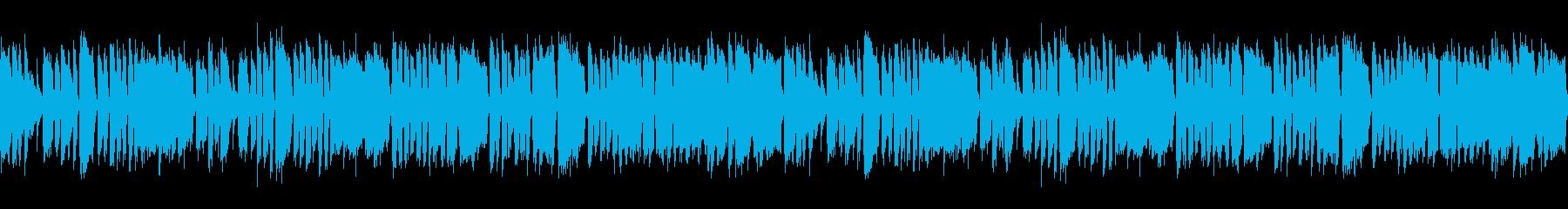 アジトへの潜入をイメージしたヒップホップの再生済みの波形