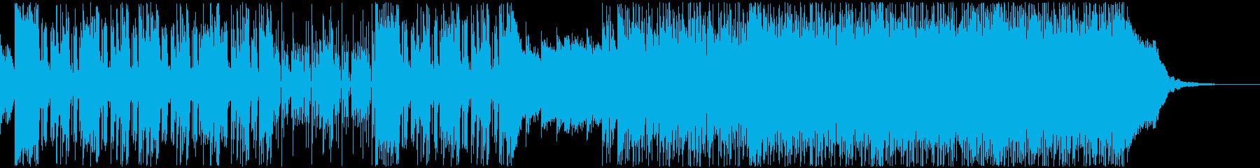 前向きに走り出す2部構成のエレクトロの再生済みの波形
