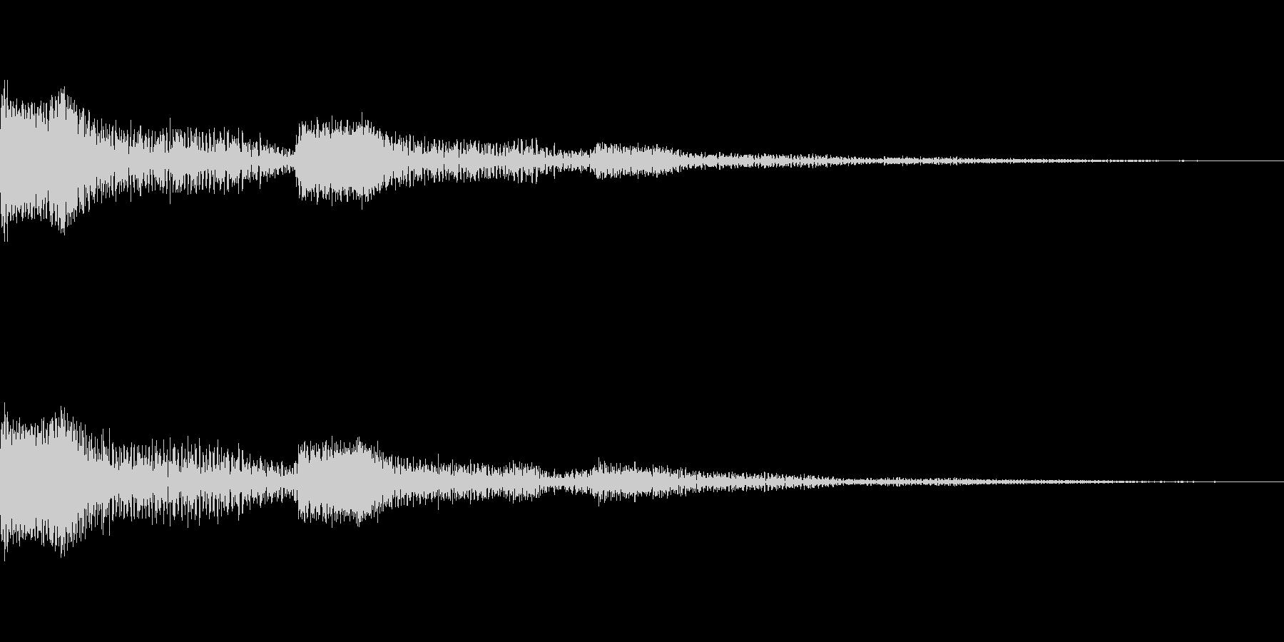 [ポワーン]ミス、失敗音の未再生の波形