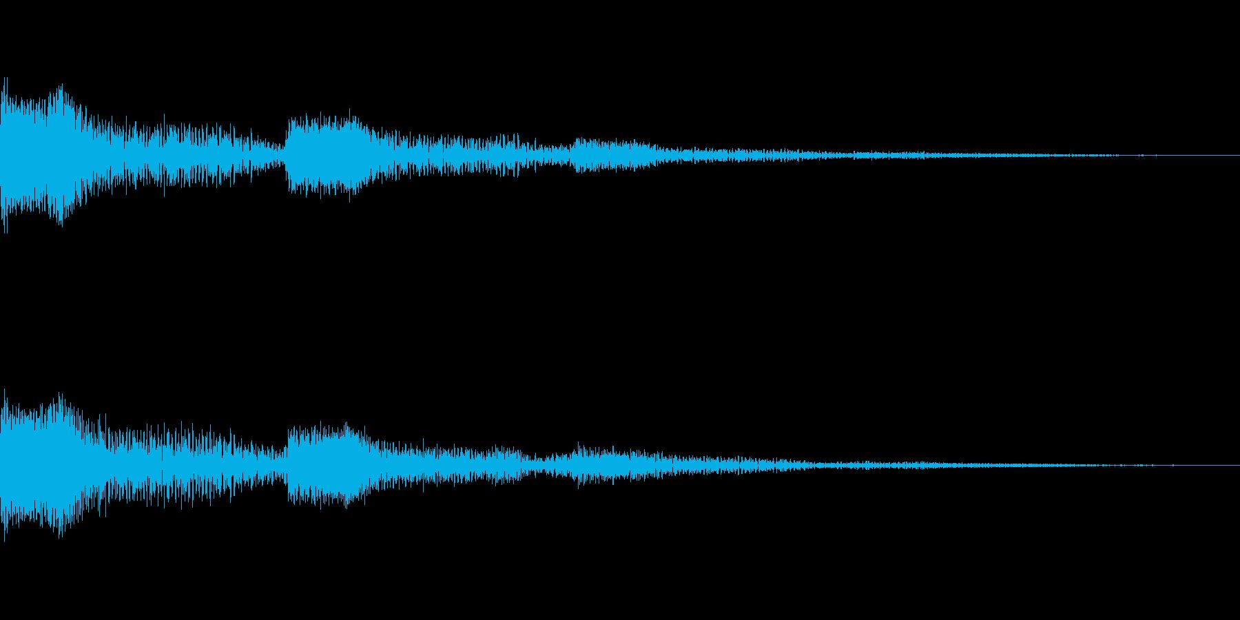 [ポワーン]ミス、失敗音の再生済みの波形