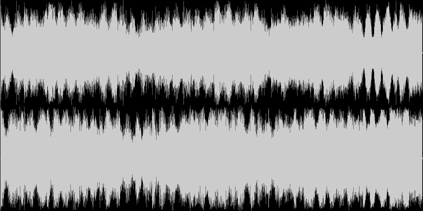 混沌としたリズムを基本にした楽曲です。の未再生の波形
