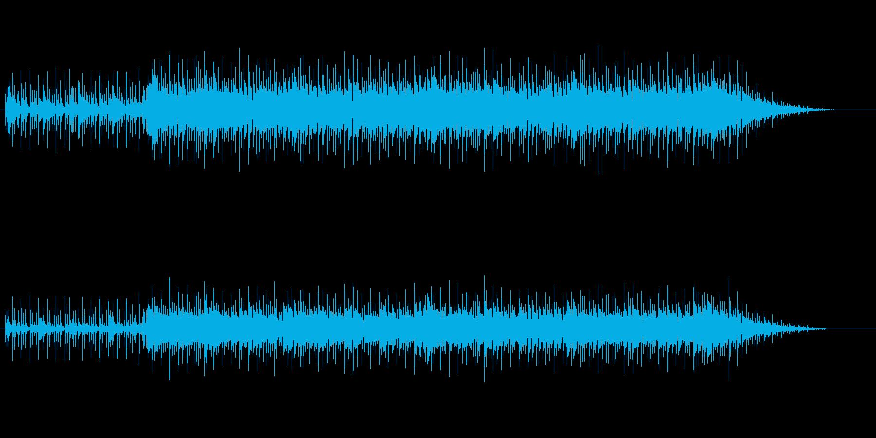 わくわくするポップスの再生済みの波形